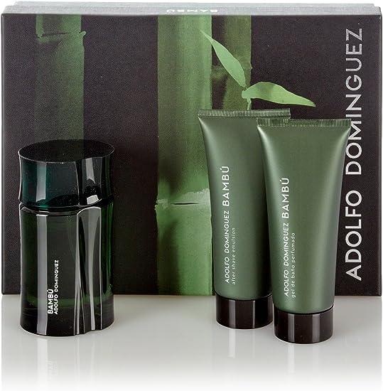Adolfo Dominguez Estuche Bambú Men Edt 120 ml + After Shave 100 ml + Gel 100 ml: Amazon.es: Belleza
