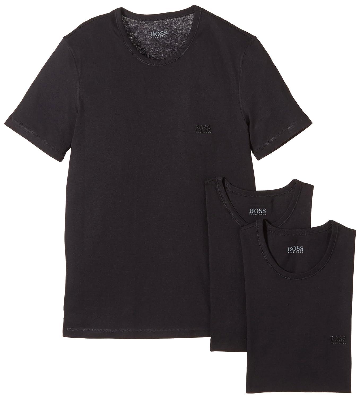 cd1e24f64 Amazon.com: Hugo Boss Crew Neck T-Shirt (3 Pack): Clothing