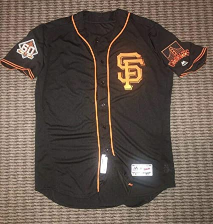 super popular 6a442 30a91 Brandon Crawford San Francisco Giants Game Used Worn Jersey ...