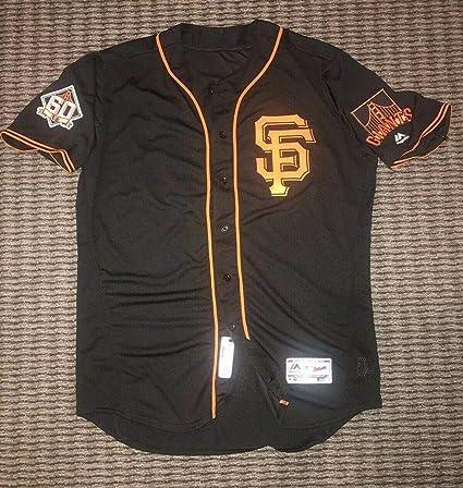 super popular fece3 bd4d9 Brandon Crawford San Francisco Giants Game Used Worn Jersey ...