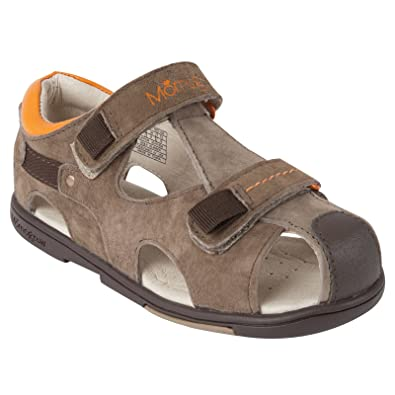 fe763ef63698 Momo Grow Boys Double-Strap Leather Sandal Shoes - 8 M US Toddler