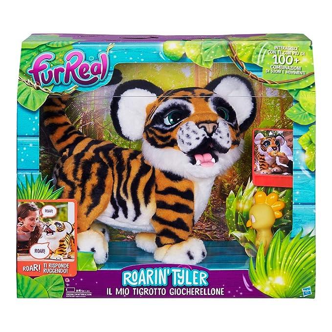 FurReal Friends - Peluche Tyler, mi tigre jugueton (Hasbro B9071103) (versión en italiano): Amazon.es: Juguetes y juegos