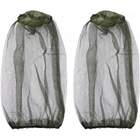 FEESHOW 2 Pack Anti- Mosquito Insect Head Net Mesh Mask Hat Face Protection Protective Cover for Beekeeping Beekeeper Outdoor Fishing
