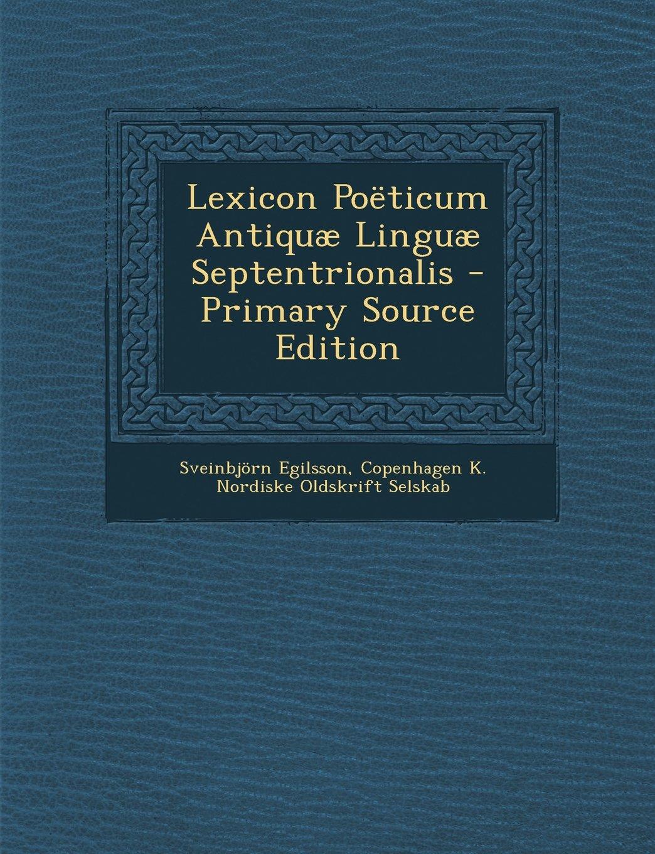 Lexicon Poeticum Antiquae Linguae Septentrionalis