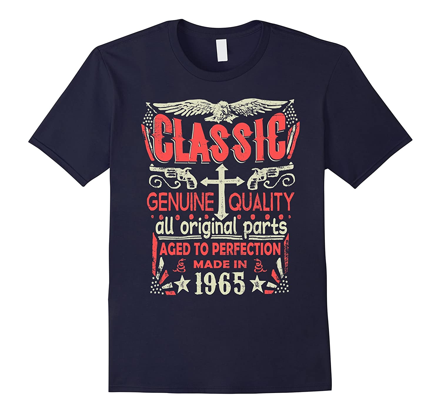 Classic Made In 1965 Birthday Gift Idea T Shirt-TD
