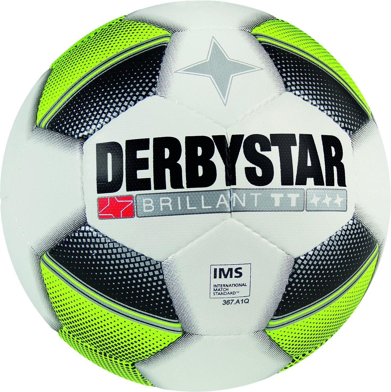 Derbystar Brillant TT - Balón de fútbol, Todo el año, Hombre, Color Blanco, Negro, Amarillo, tamaño 5: Amazon.es: Deportes y aire libre
