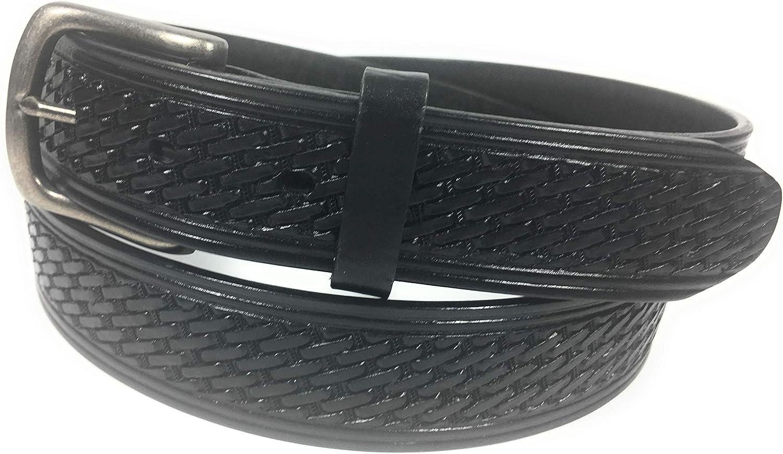 Mens Big And Tall Heavy Duty Work Belt Uniform Black Leather Belt