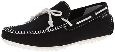 Cole Haan Men's Grant LTE Slip-On Loafer, Black Fabric/White, 9