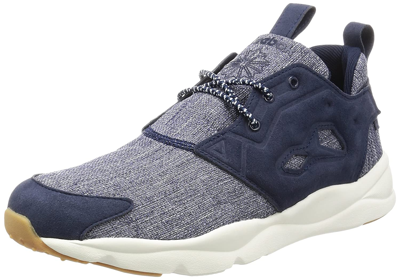 Reebok Herren Furylite Refine Sneaker  41 EU Blau (Collegiate Navy/Chalk-gum)