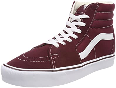 a3a03e338a Vans Men s Adults  Sk8-hi Lite Hi-top Trainers Red ((Suede Canvas ...