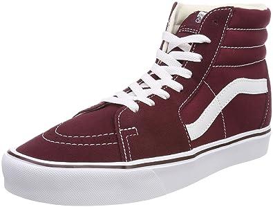 807717b068 Vans Men s Adults  Sk8-hi Lite Hi-top Trainers Red ((Suede Canvas ...