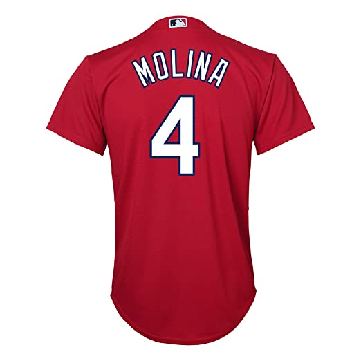 Yadier Molina St Louis Cardinals Red Youth Cool Base Alternate Replica  Jersey (Small 8) f44520060