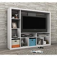 Generic Rage White Unit Open torage White Modern Room Divider Modern Ro Shelf Storage Pen Shelf TV Wall ivider TV W…