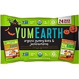 YumEarth Hallween Limited Edition Organic Gummy Candy Pack (Gummy Bats & Jackolanterns 12oz)