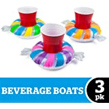 BigMouth Inc. Inflatable Penny Candy Pool Cupholder Floats, 3-Pack Includes 3 Different Candy Colors Drink Floats