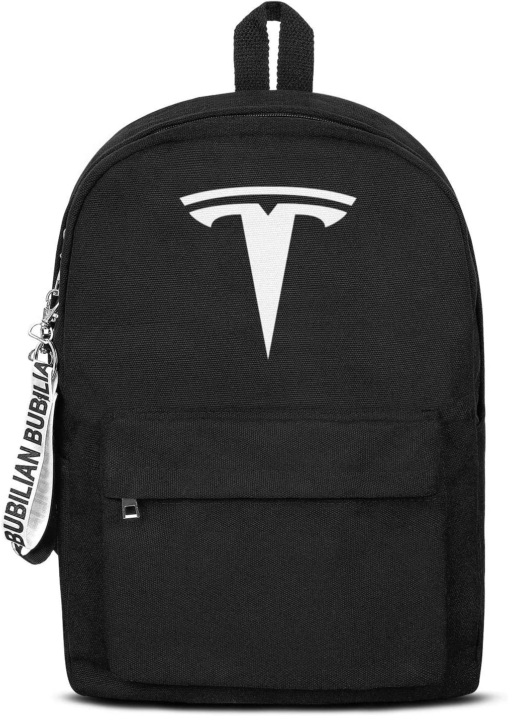 School College Black Book Bags with Pencil Case Tesla-Logo- Cool Travel Laptop Canvas Backpack