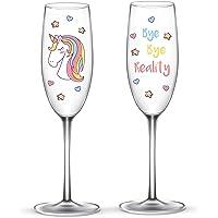 EinhornLiebe Unicornio Amor® ® Unicornio Copas de Cristal