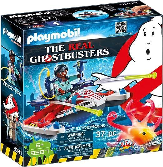 PLAYMOBIL Ghostbusters Zeddemore con Moto de Agua, Flota, a Partir de 6 Años (9387): Amazon.es: Juguetes y juegos