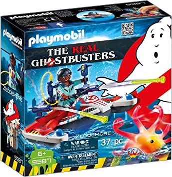 PLAYMOBIL Ghostbusters Zeddemore con Moto de Agua, Flota, a Partir de 6 Años (9387)