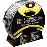 FOREVER STEEL HOSE | 50FT 304 Heavy Duty Stainless Steel Metal Garden Water Hose - Kink Free, Flexible, Expandable, Lightweig