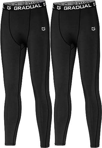 Amazon Com G Gradual Boys Compression Pants Youth Thermal Base Layer Fleece Tights Sports Basketball Leggings For Boys Clothing