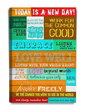 Amazoncom Decorarts Today Is A New Day Inspirational Quotes