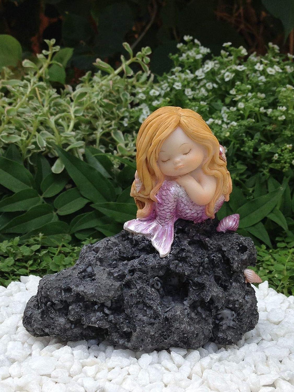 Miniature Figurine FAIRY GARDEN ~ Little Mermaid Sleeping on Rock ~ NEW