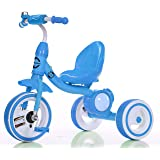 Little Bambino Trike n Ride Outdoor Metal Tricycle For Toddler Kids (Blue)