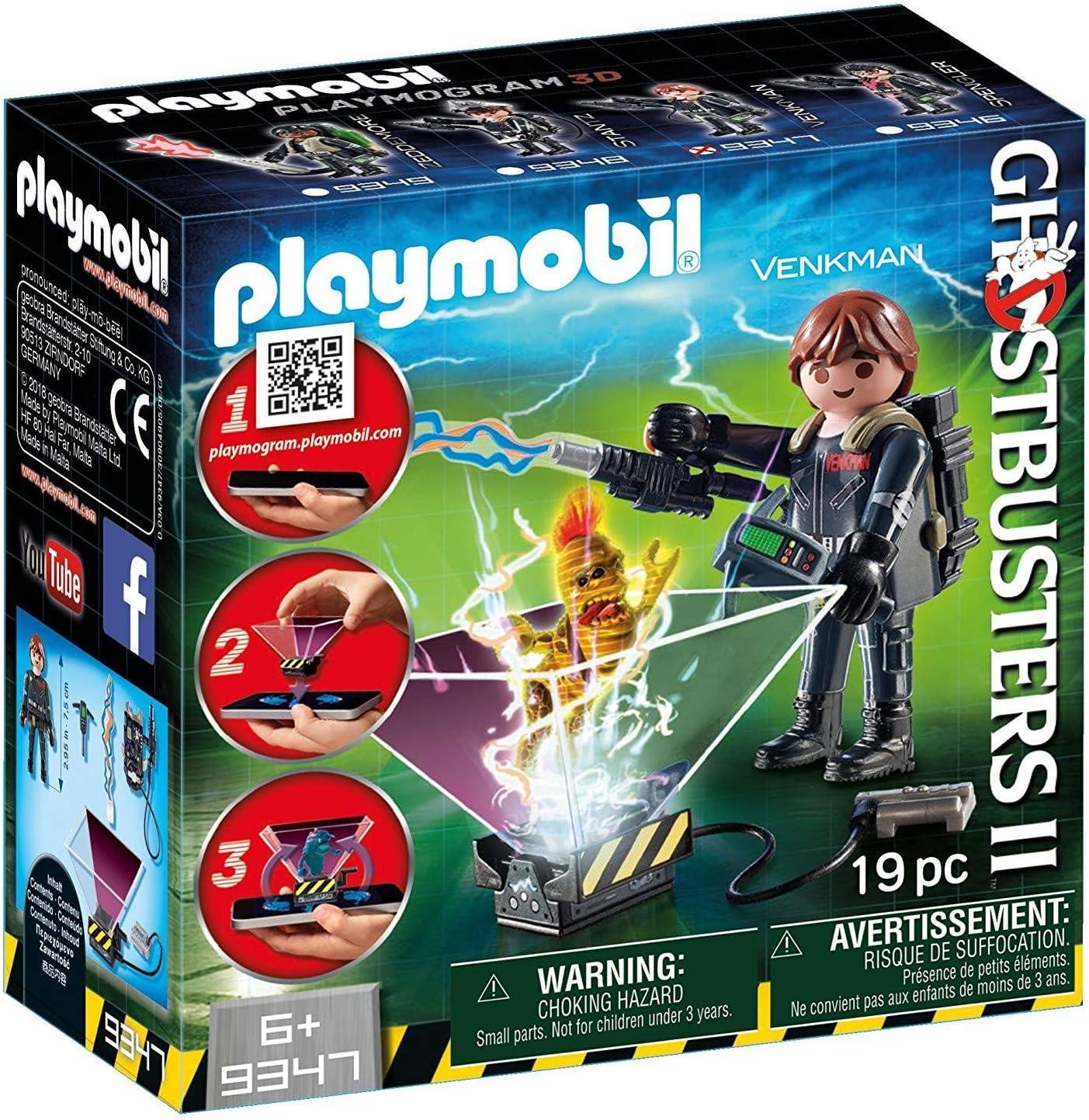 CAZAFANTASMAS-Ghostbuster Peter Venkman Playset de Figuras de Juguete, Multicolor, 7 x 14,4 x 14,6 cm Playmobil 9347