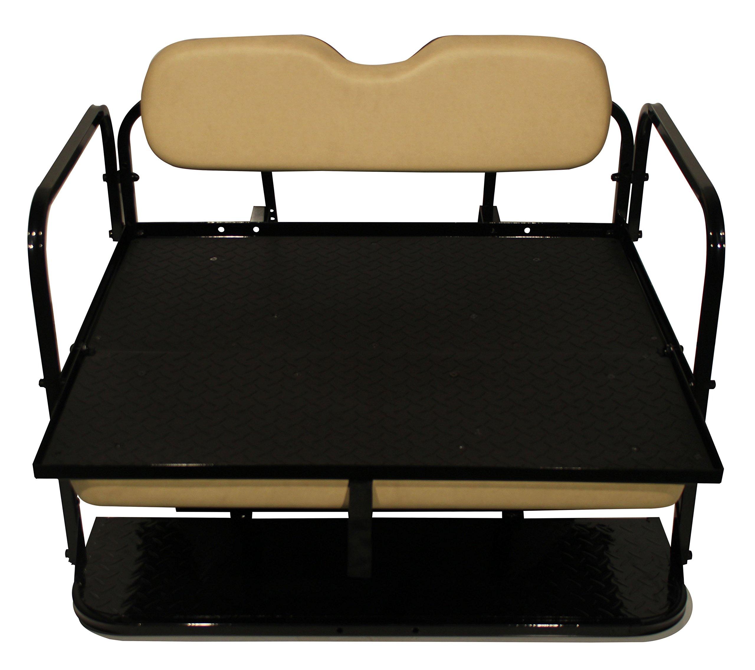 Club Car Precedent Golf Cart Rear Flip Flop Seat Kit - Color: BUFF by Parts Direct (Image #3)
