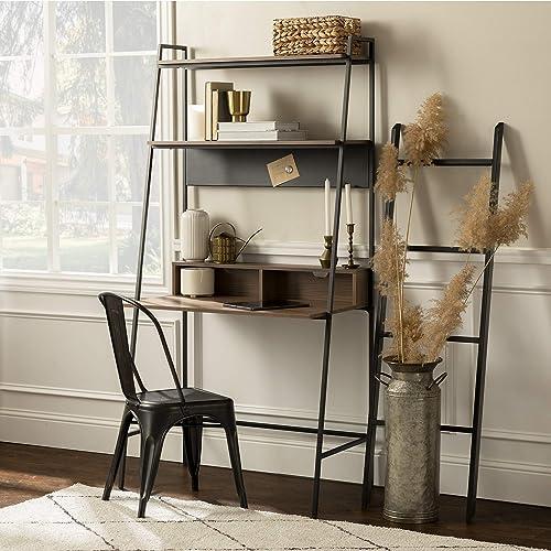 WE Furniture Freya Urban Industrial Ladder Desk