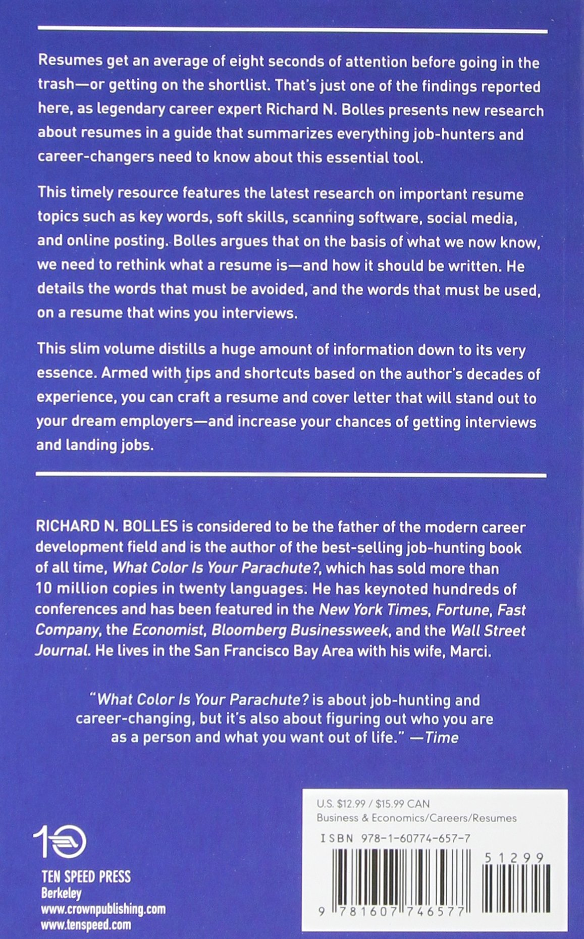 guide to rethinking resumes write a winning resume and cover letter and land your dream interview richard n bolles 0884339277902 amazoncom books - Resume Scanning Software