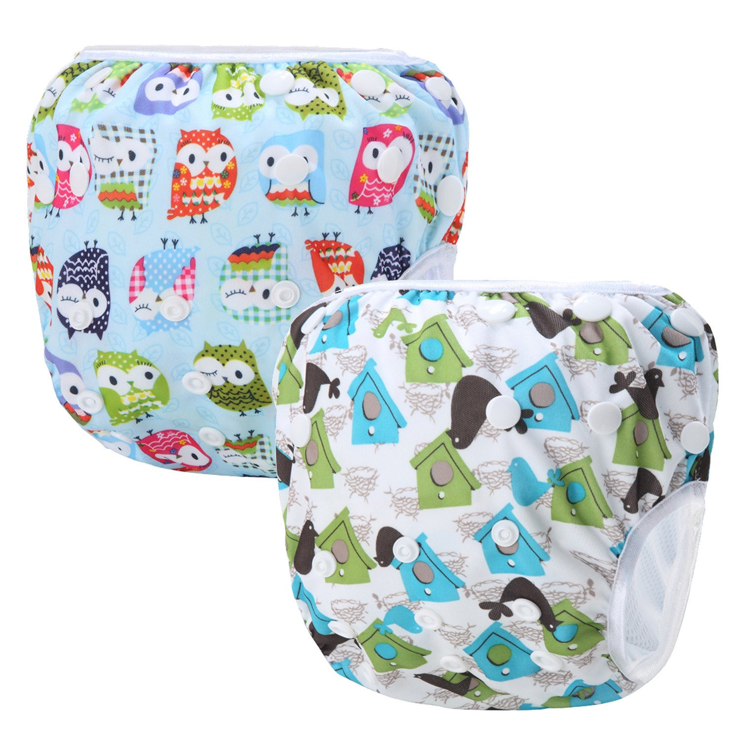 Storeofbaby Reusable Baby Swim Diapers Washable Cover for Little Swimmer 2 Pack Swimpant_1_14_EU