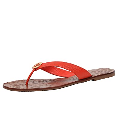 0993148baf5c Amazon.com | Tory Burch Thora Leather Flip Flop Shoes TB Logo (9 ...