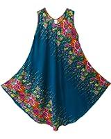 Pikulla Half Moon Sleeveless Women's Ivy Hippie Gypsy Sundress Multicoloured X-Large