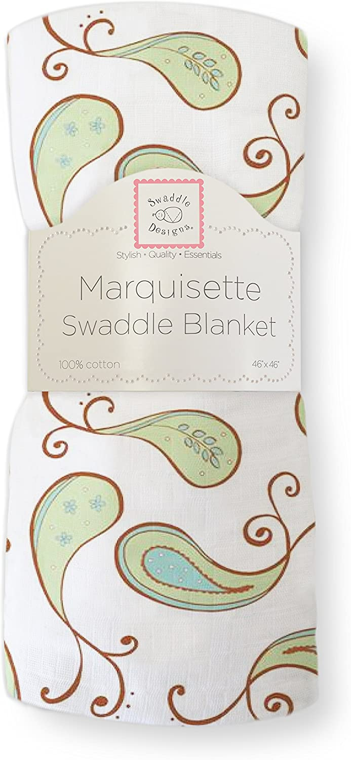 Triplets Paisley Pink SwaddleDesigns Marquisette Swaddling Blanket