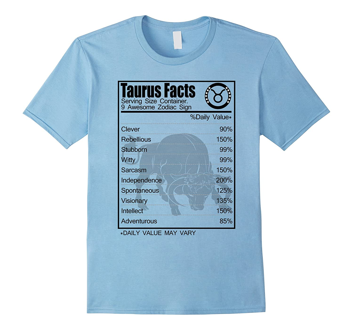 Taurus Facts Awesome Zodiac T-shirt Clever Rebellious-CD