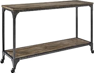 Ameriwood Home Cecil Wood Veneer Console Table, Rustic