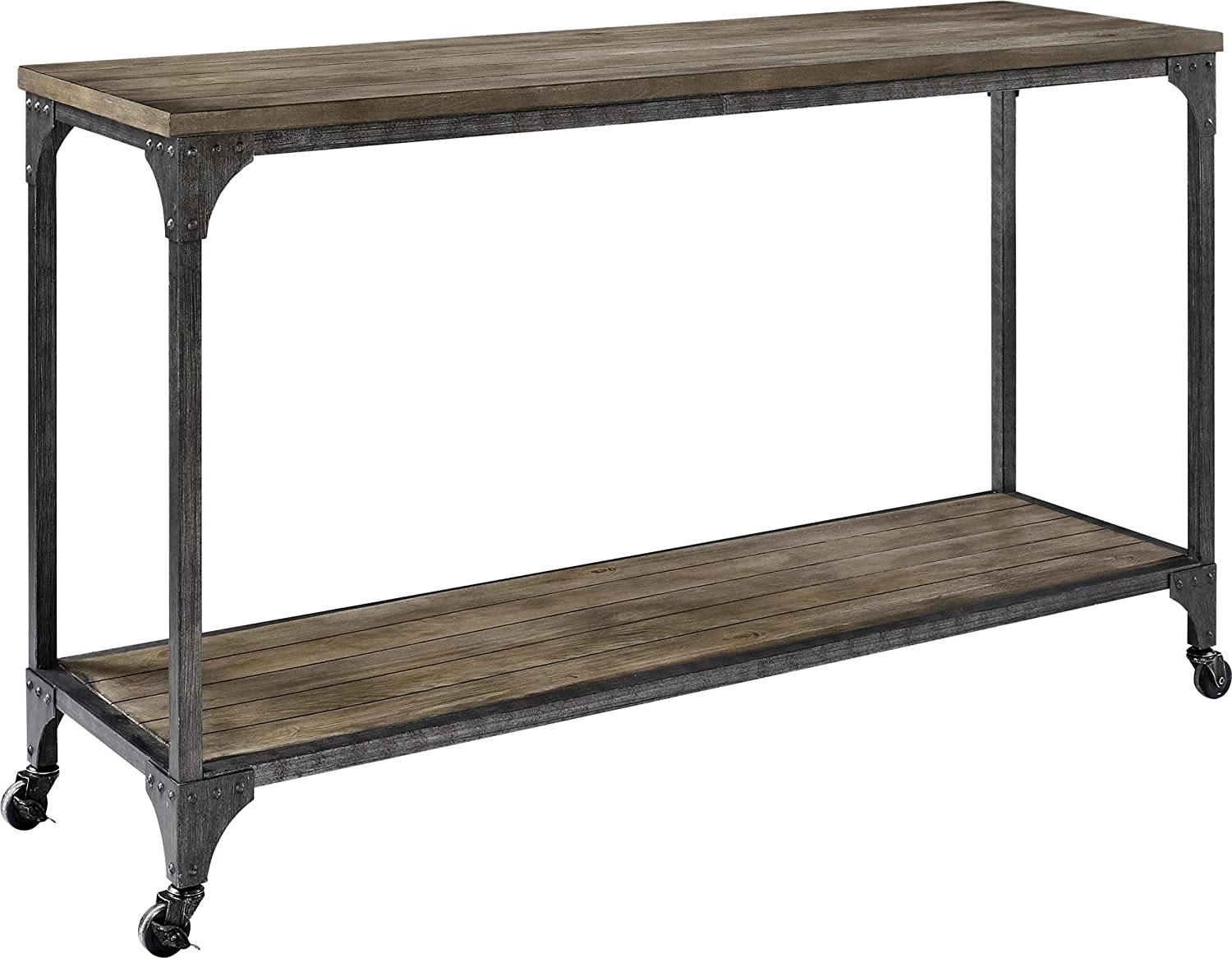 Amazon.com: Altra Cecil Wood Veneer Console Table, Rustic: Kitchen U0026 Dining