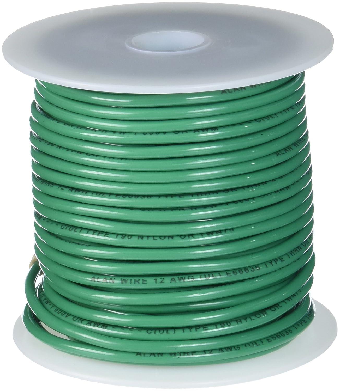 Remington Industries 12SLDGRETHHN100 12 AWG Gauge Solid THHN Building Wire, 600V, 100' Length, Green