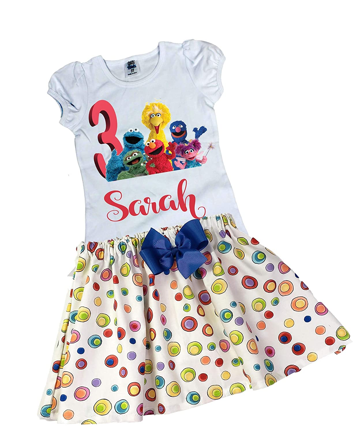 Girl Sesame Street birthday outfit Girl Elmo Sesame Street outfit Girl Elmo name age dress Girl Birthday Elmo Sesame Street outfit