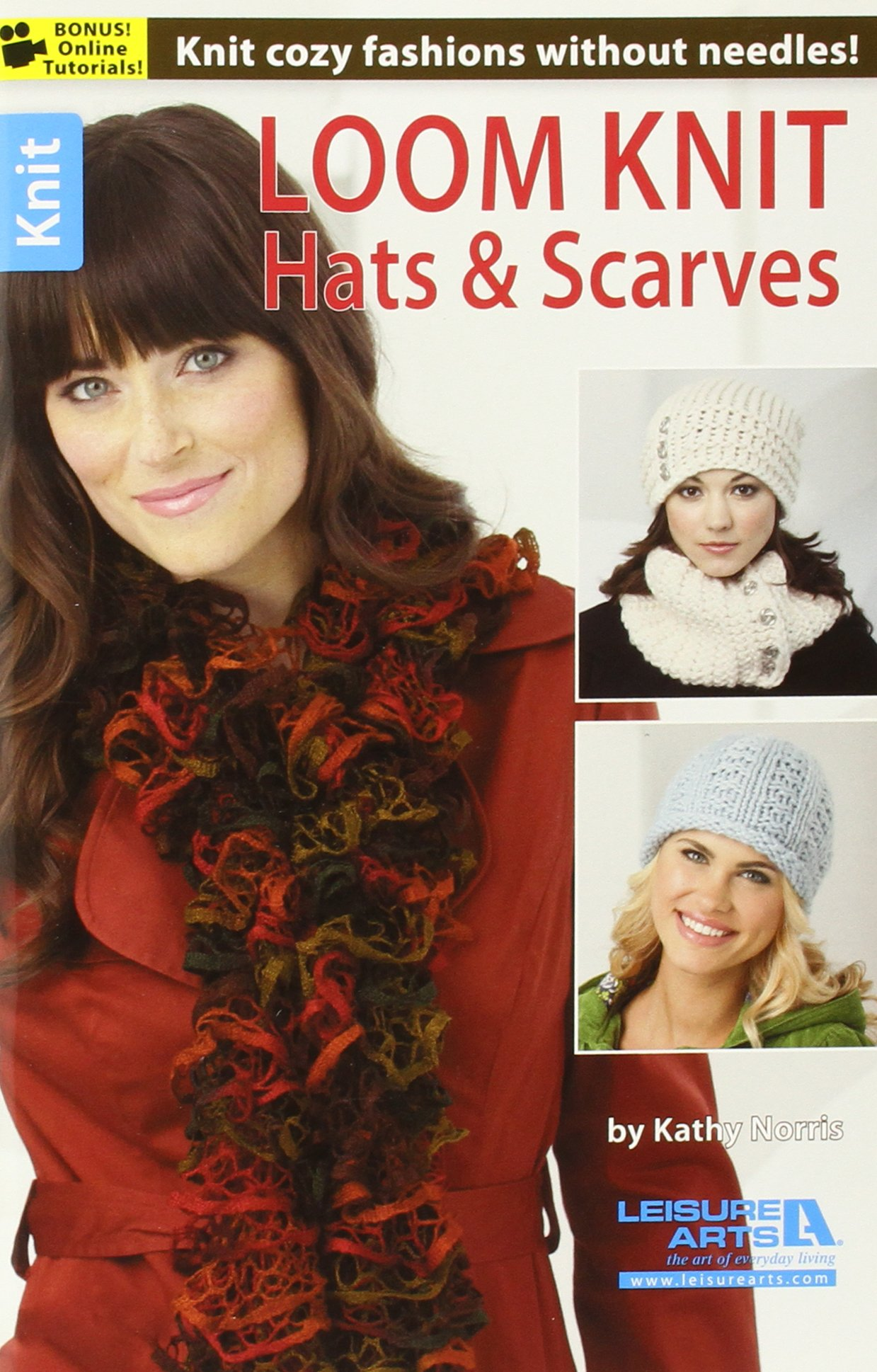 Knit Pattern Book KNITTING SCARVES On CIRCLE LOOMS 12 Designs