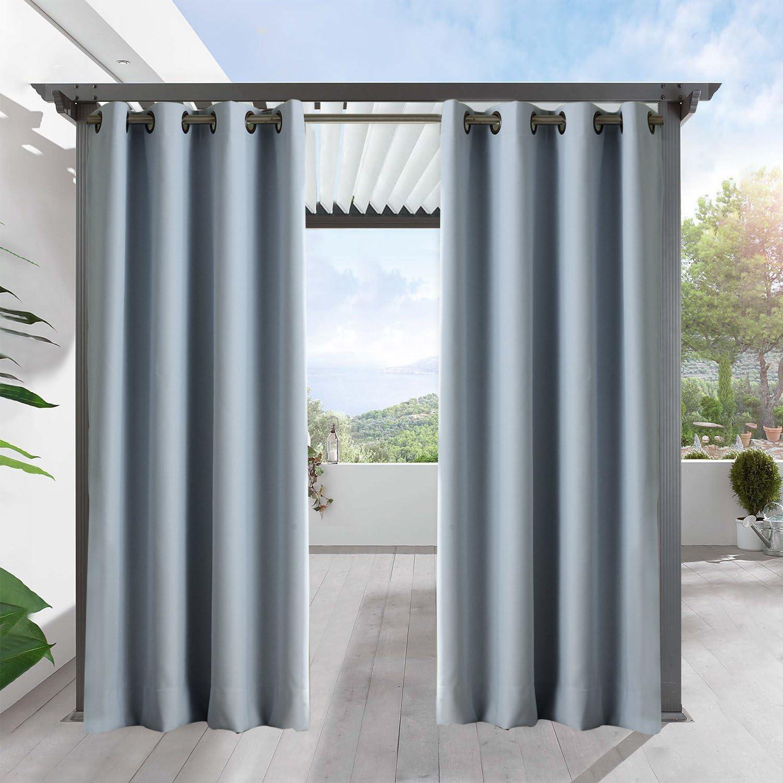 Cortinas con ojales de bronce envejecido para decoración de exteriores, para patio, porche delantero con varios colores y tamaños.