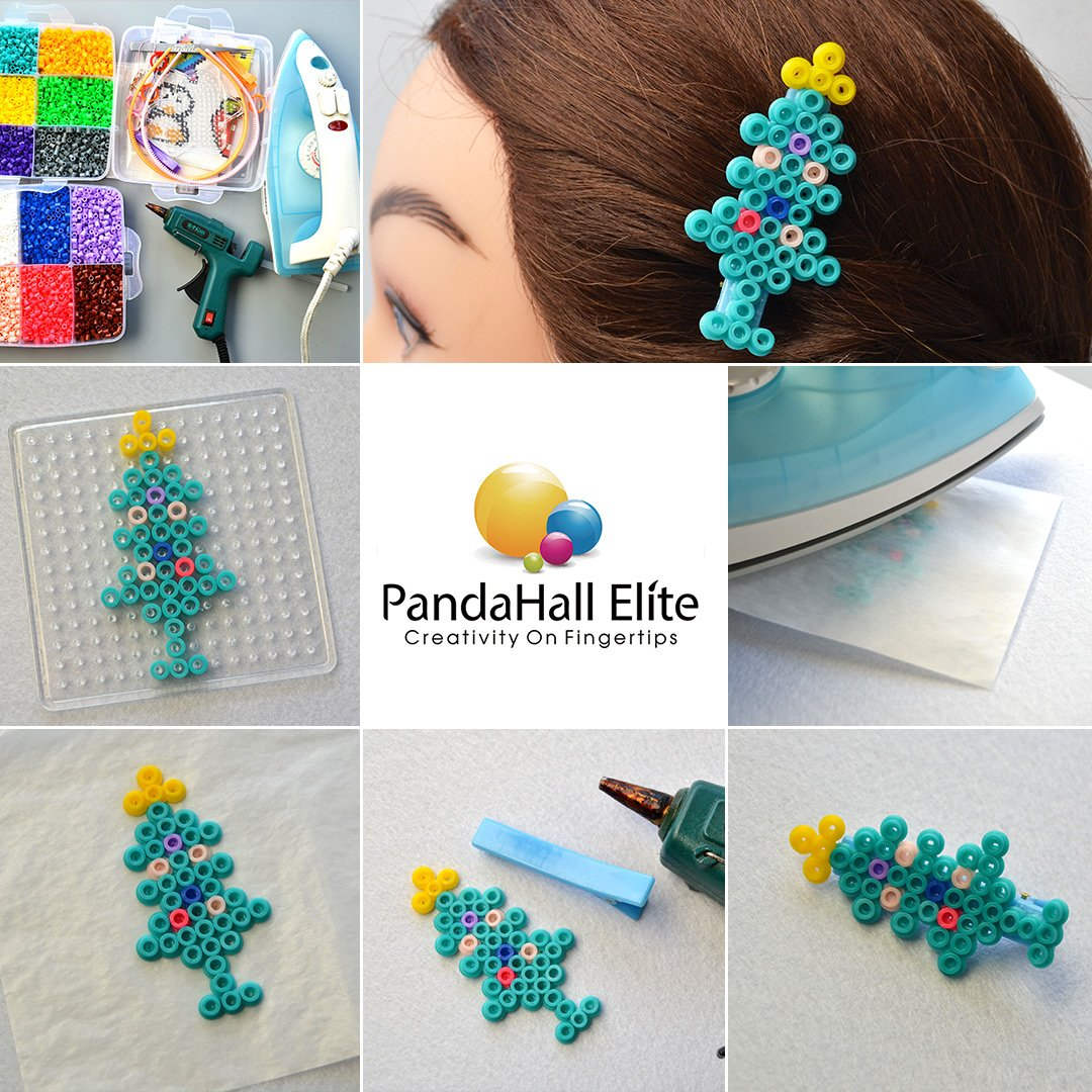 PandaHall Elite 1 Box Size 2.5mm DIY Fuse Beads and Pegboards with Tweezer Peg Boards Iron Paper Pack of 18 Colors for Holiday Gift