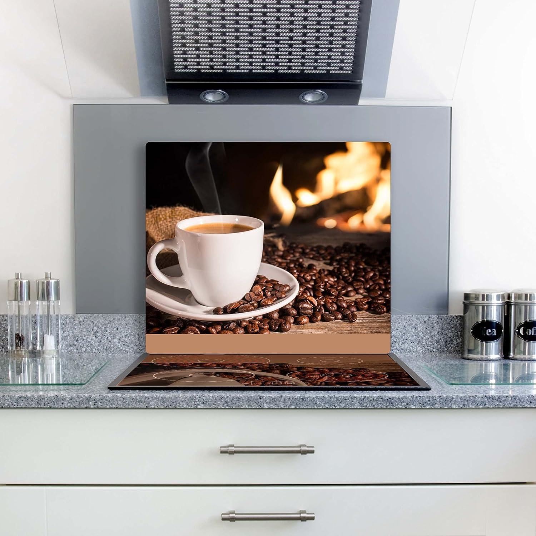 per fornelli elettrici Copri piano cottura in vetroceramica protezione da fornelli e da schizzi di vetro a induzione Decorwelt 2x30x52 cm