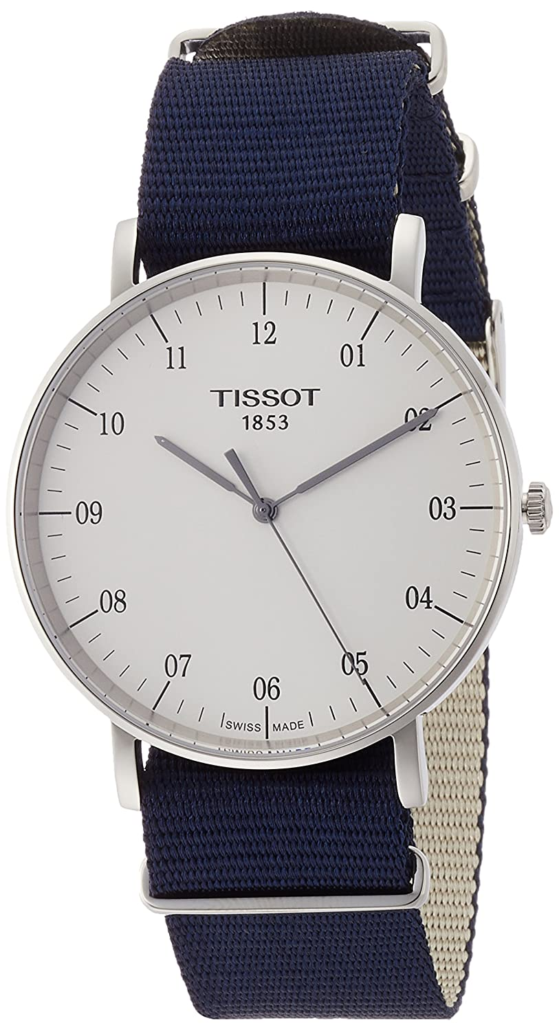 Amazon.com: Tissot Unisex Everytime Large NATO - T1096101703700 Silver/Blue One Size: Tissot: Watches