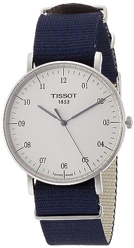 b024077661d Tissot Reloj Analógico para Unisex Adultos de Cuarzo con Correa en Tela  T1096101703700  Amazon.es  Relojes