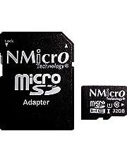 NMicro 32Go Carte mémoire MicroSD 32G 32GB UHS-1 Classe 10 UHS TF microSDHC SDHC T-Flash Lecture Allant jusqu'à 85MB/S avec adaptateur
