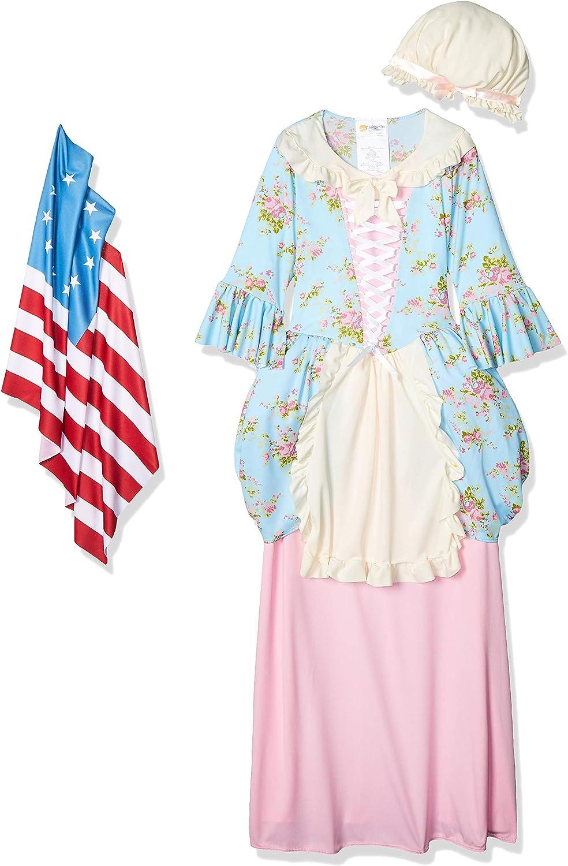 Betsy Ross Patriotic 3 Piece Children/'s Dress Historical Book Report Costume