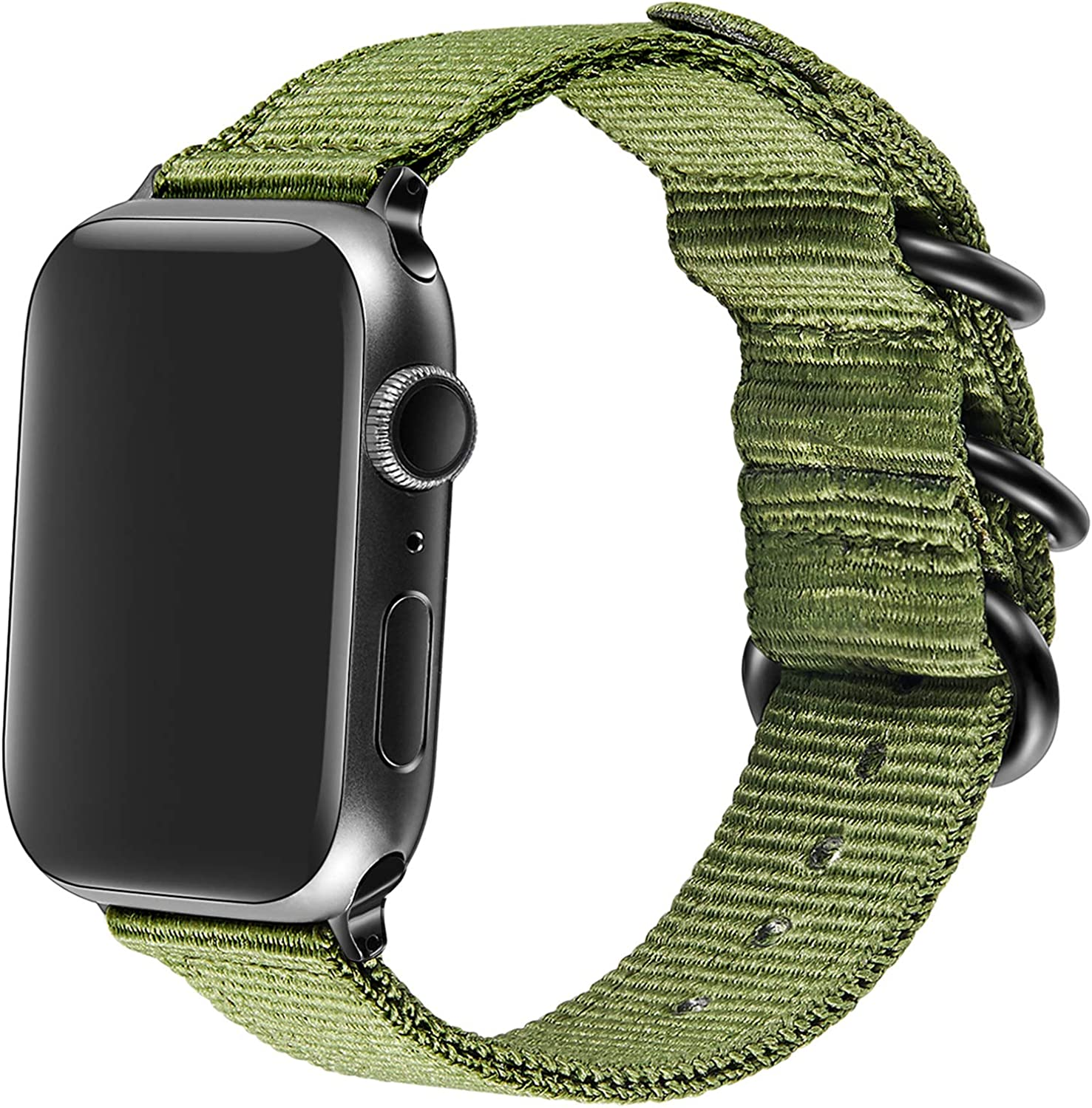 AGUPERFIT Nylon Bands Compatible with Apple Watch 42mm 44mm, Robust and Breathable Replacement Strap Works with iWatch Series 6/SE/5/4/3/2/1